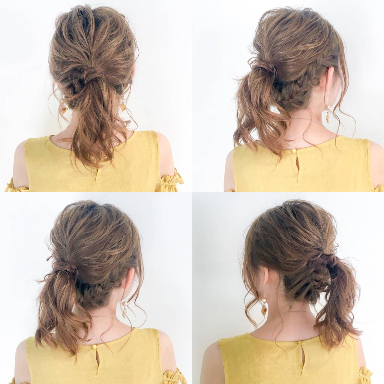 デート フェミニン セミロング 結婚式ヘアスタイルや髪型の写真・画像