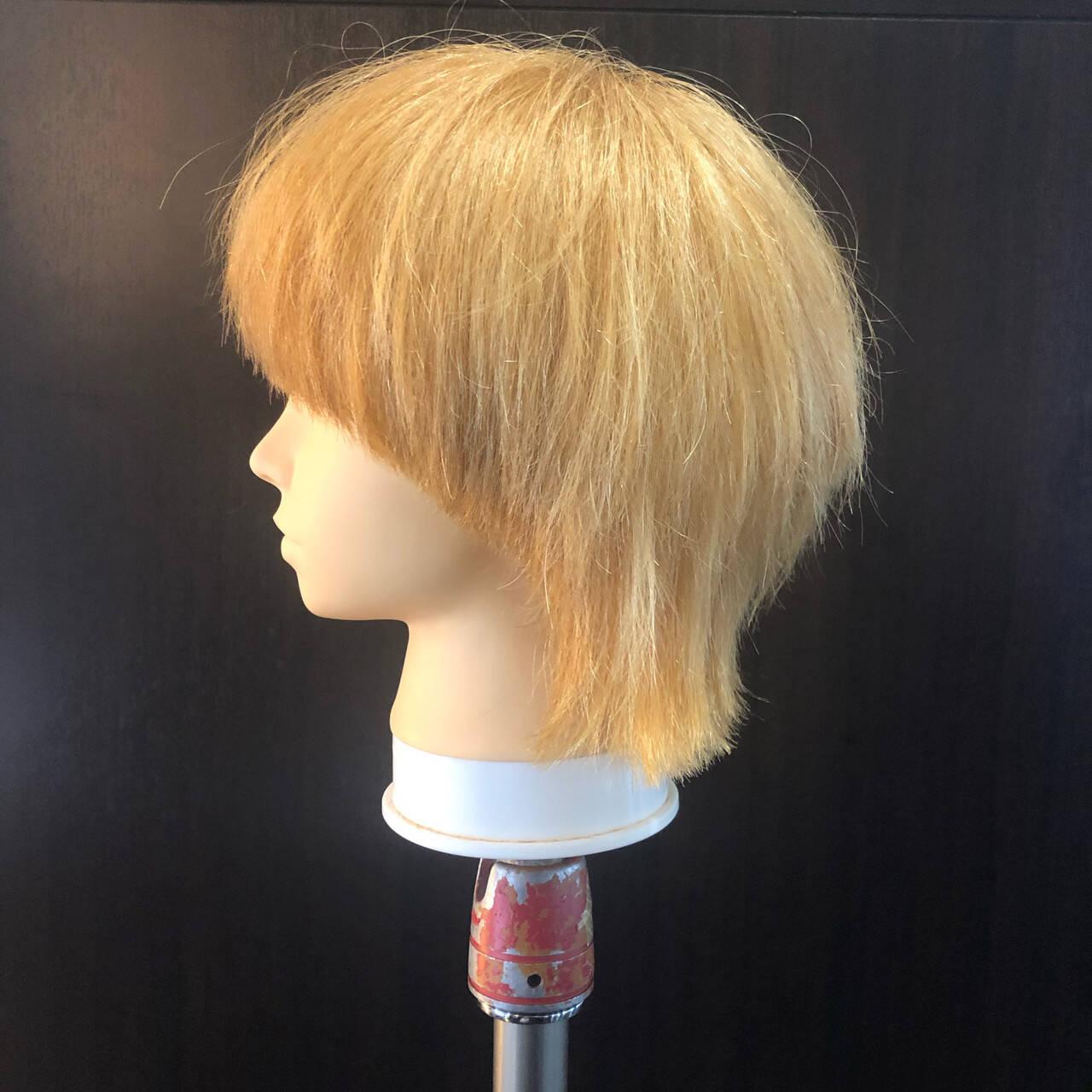 ウルフ ニュアンスウルフ ミディアム ストリートヘアスタイルや髪型の写真・画像