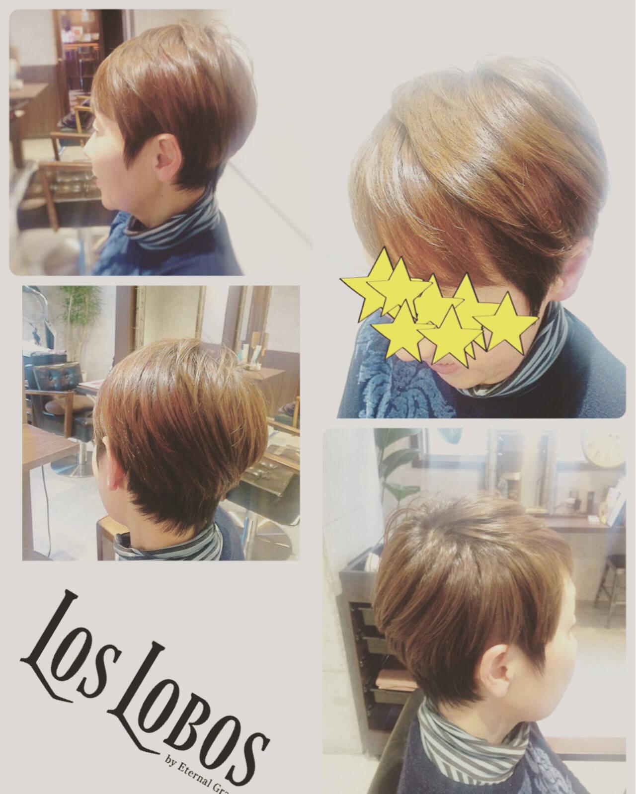 ハイライト マット モード ショートヘアスタイルや髪型の写真・画像
