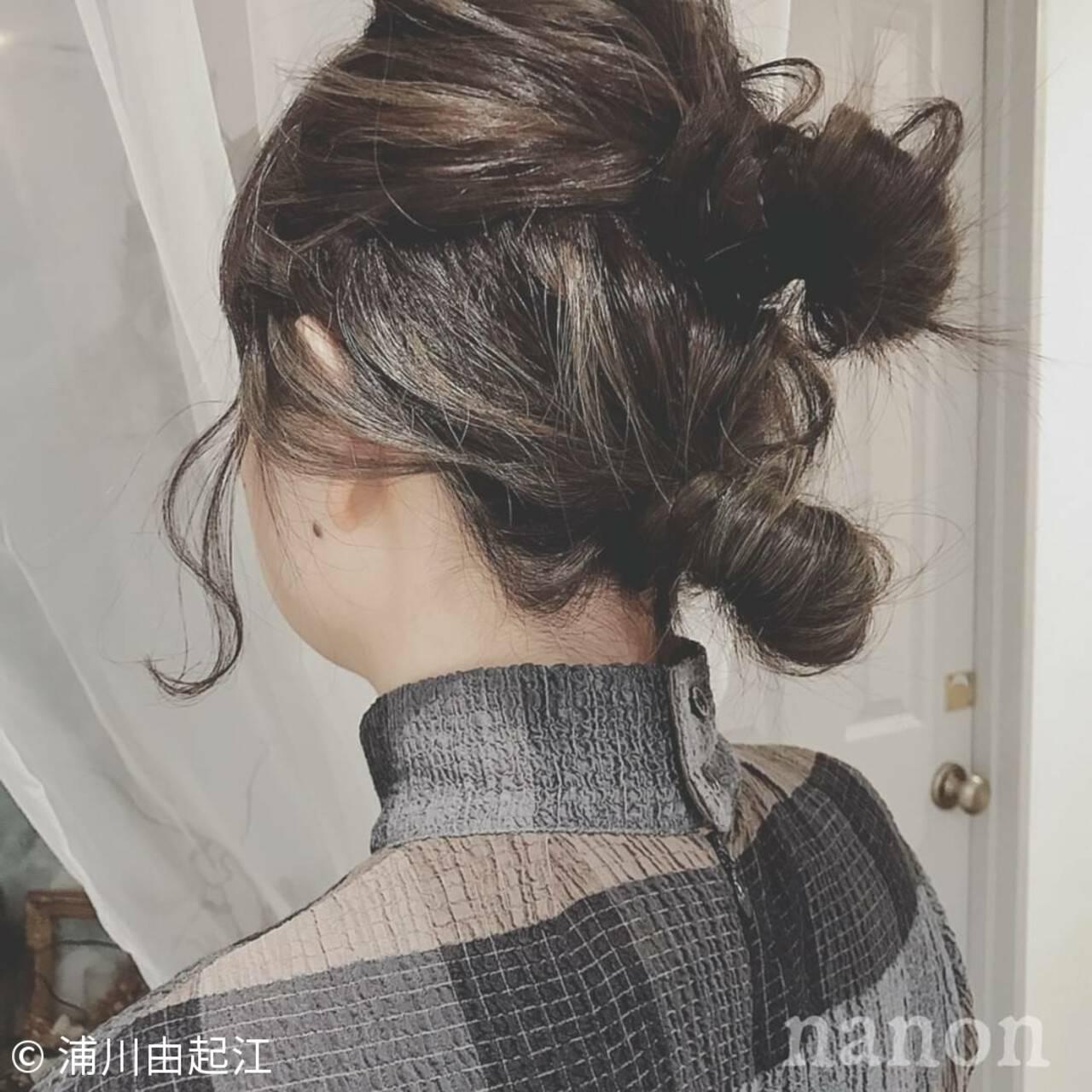 モテ髪 ナチュラル グラデーションカラー デートヘアスタイルや髪型の写真・画像