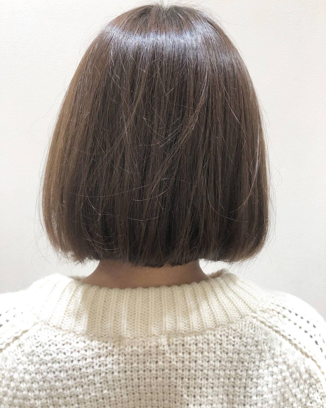 オルティーブアディクシー ナチュラル ボブ アディクシーカラーヘアスタイルや髪型の写真・画像