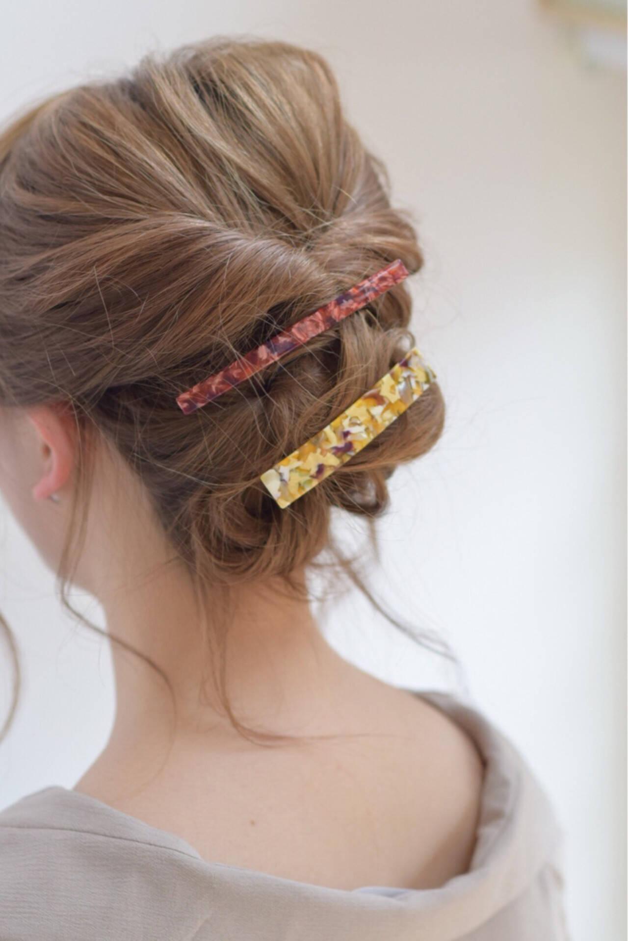 セミロング ガーリー 結婚式 デートヘアスタイルや髪型の写真・画像