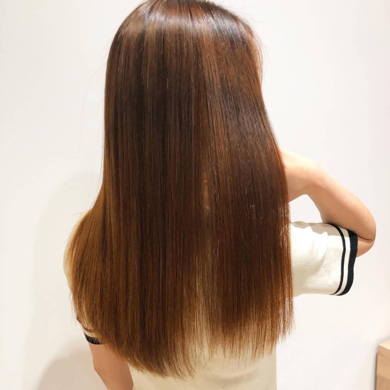 縮毛矯正 髪質改善 最新トリートメント ロングヘアスタイルや髪型の写真・画像
