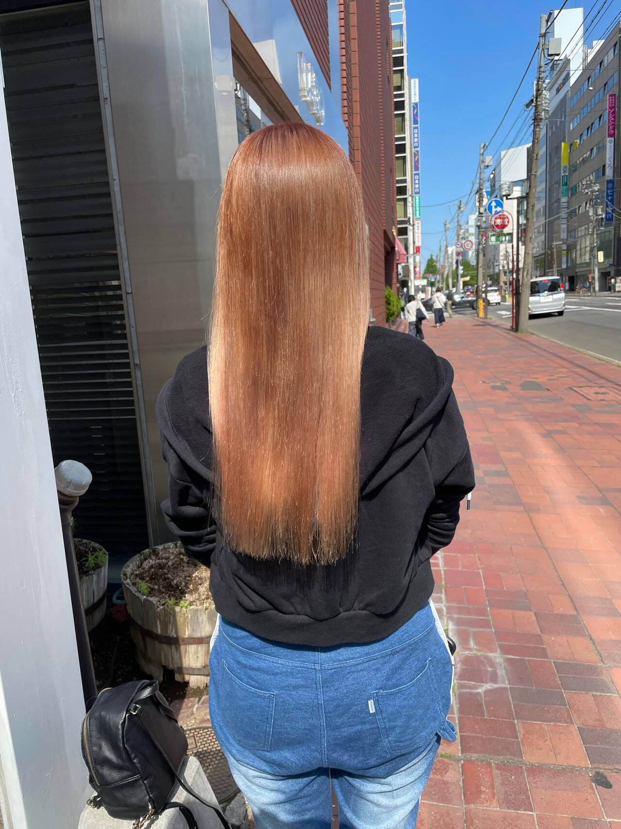 お洒落 透明感カラー ロング ナチュラル可愛いヘアスタイルや髪型の写真・画像