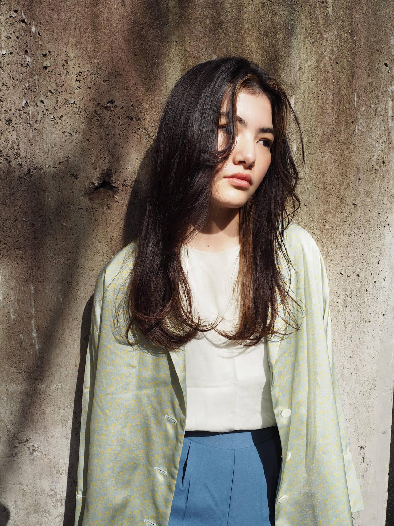 イルミナカラー モード 外国人風カラー ロングヘアスタイルや髪型の写真・画像