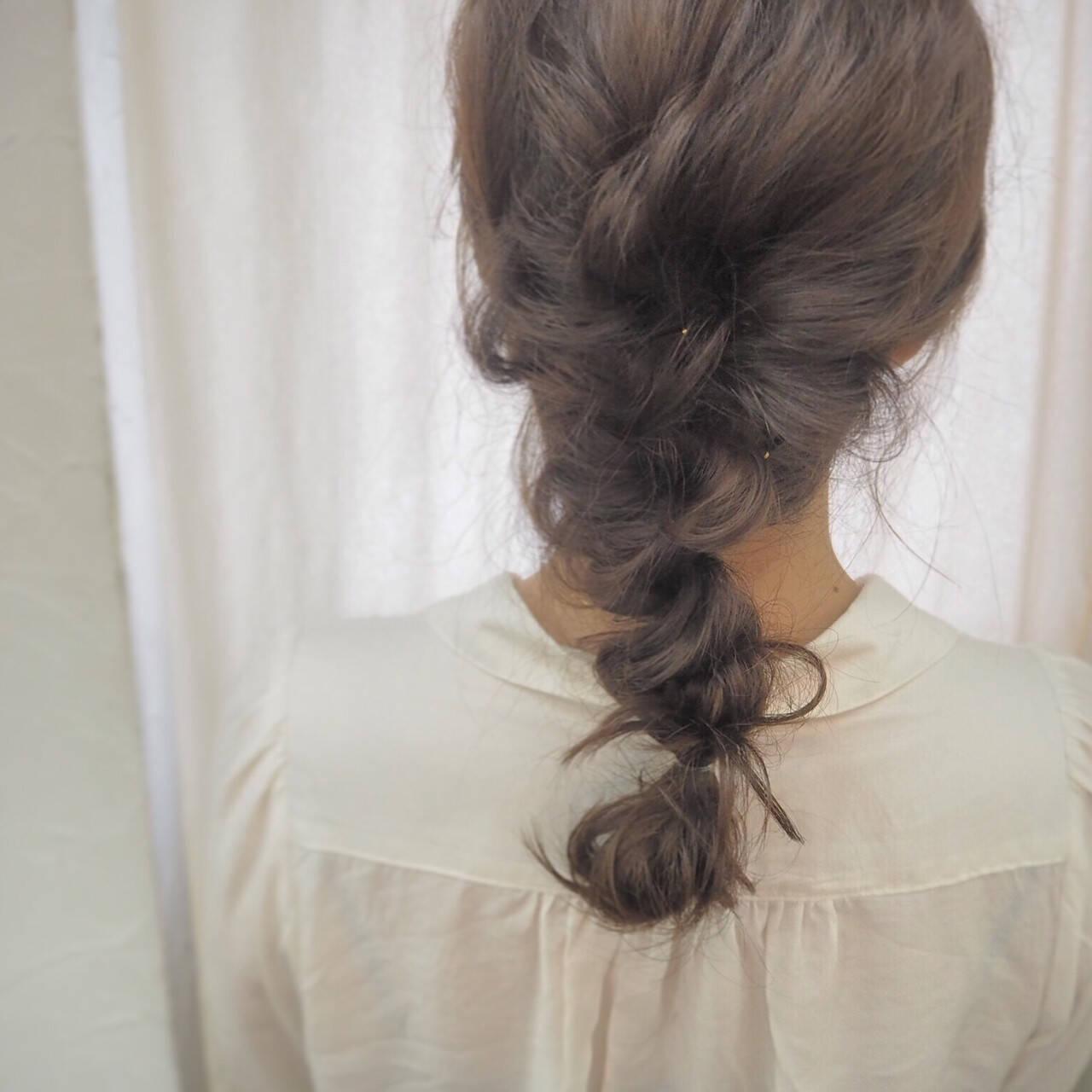 簡単ヘアアレンジ ヘアアレンジ ロング くるりんぱヘアスタイルや髪型の写真・画像