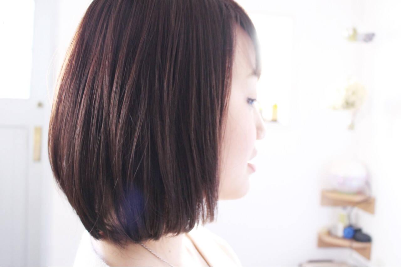 エレガント モーブ 上品 ピンクヘアスタイルや髪型の写真・画像