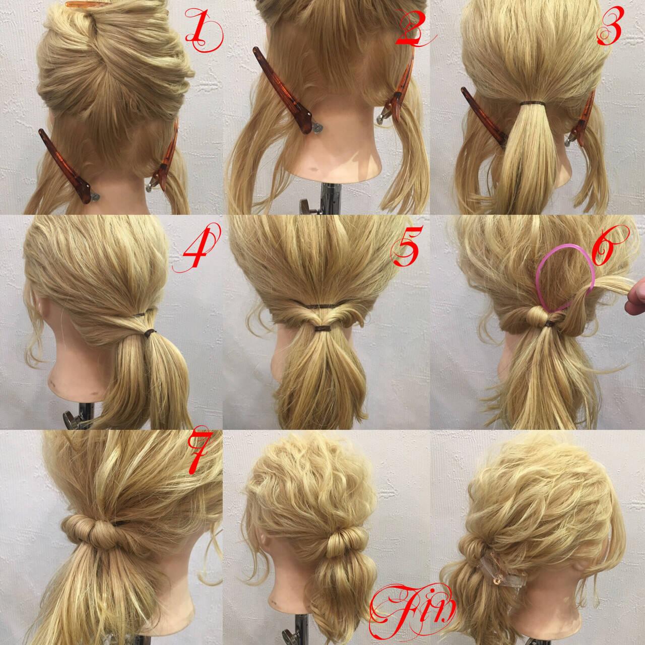 結婚式 ショート 簡単ヘアアレンジ ミディアムヘアスタイルや髪型の写真・画像