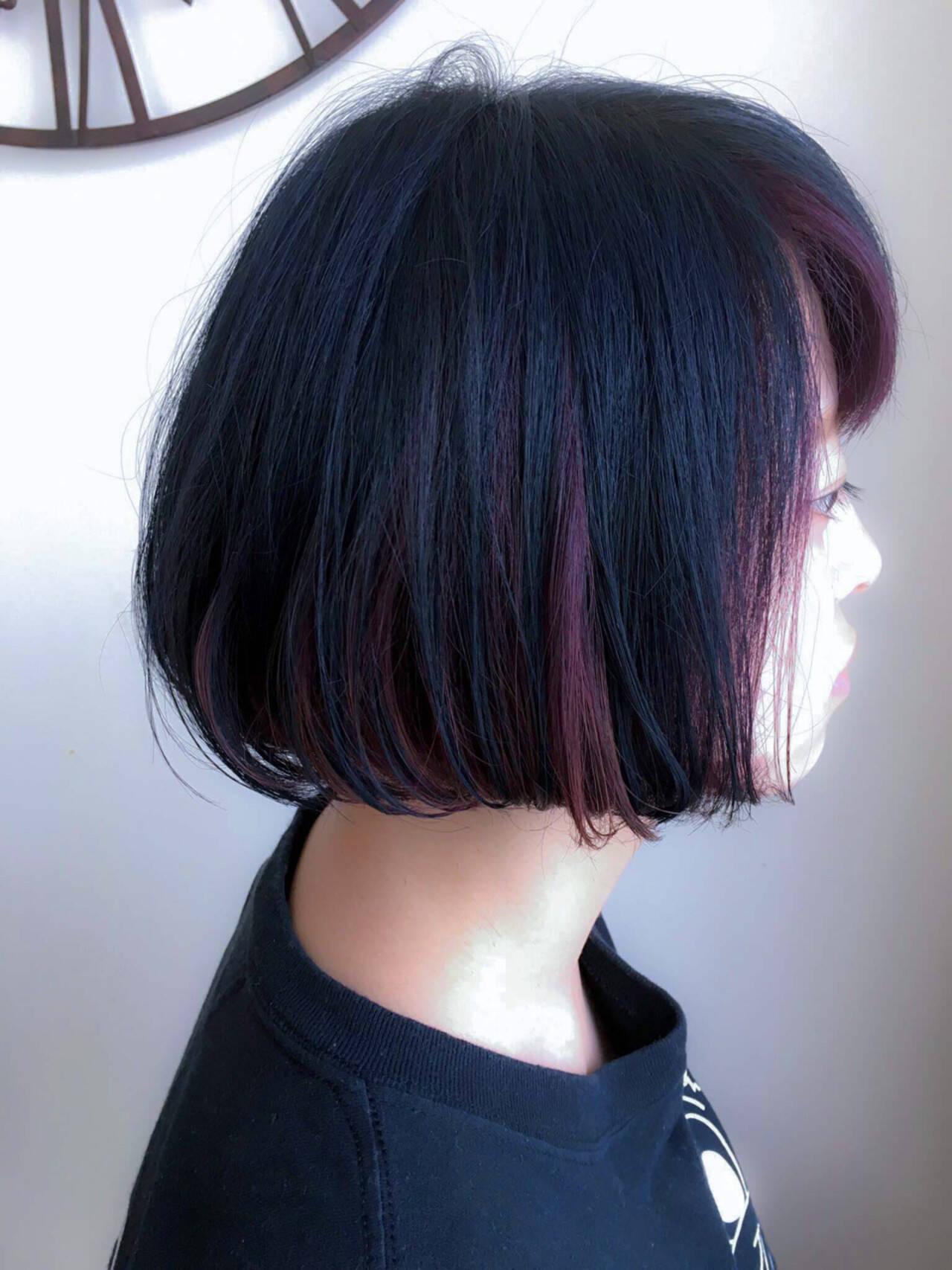 ストリート ボブ モード アッシュヘアスタイルや髪型の写真・画像