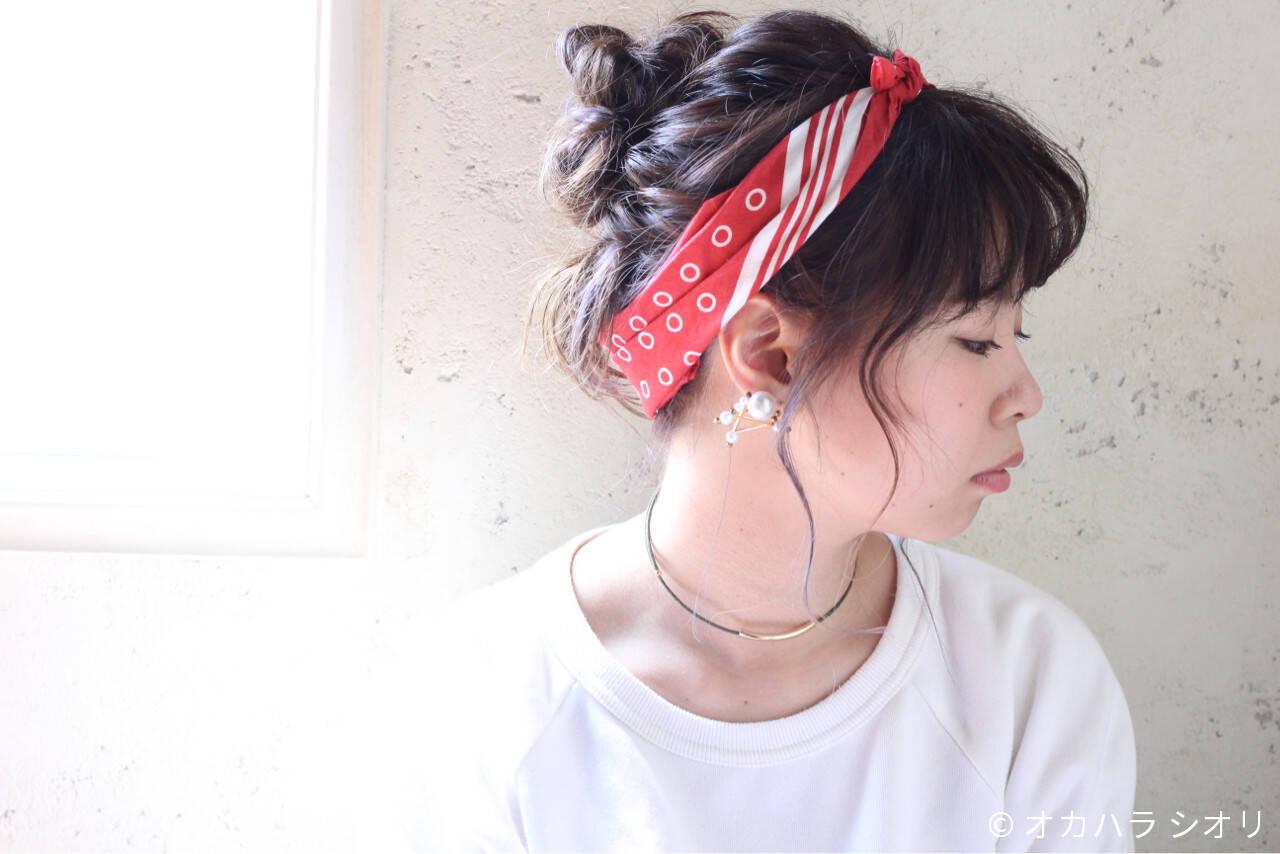 外国人風 ゆるふわ ミディアム ヘアアレンジヘアスタイルや髪型の写真・画像
