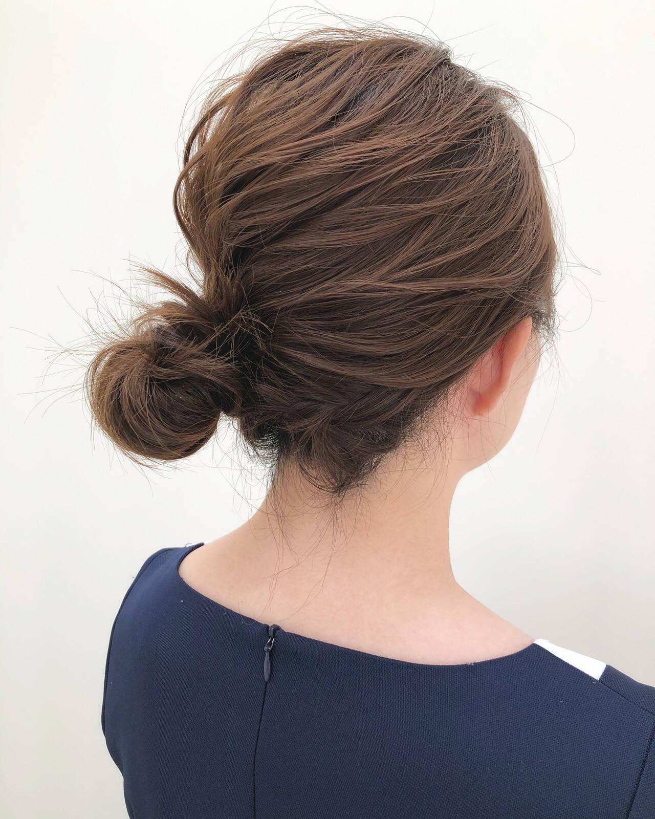 ヘアアレンジ ボブ ナチュラル 簡単ヘアアレンジヘアスタイルや髪型の写真・画像