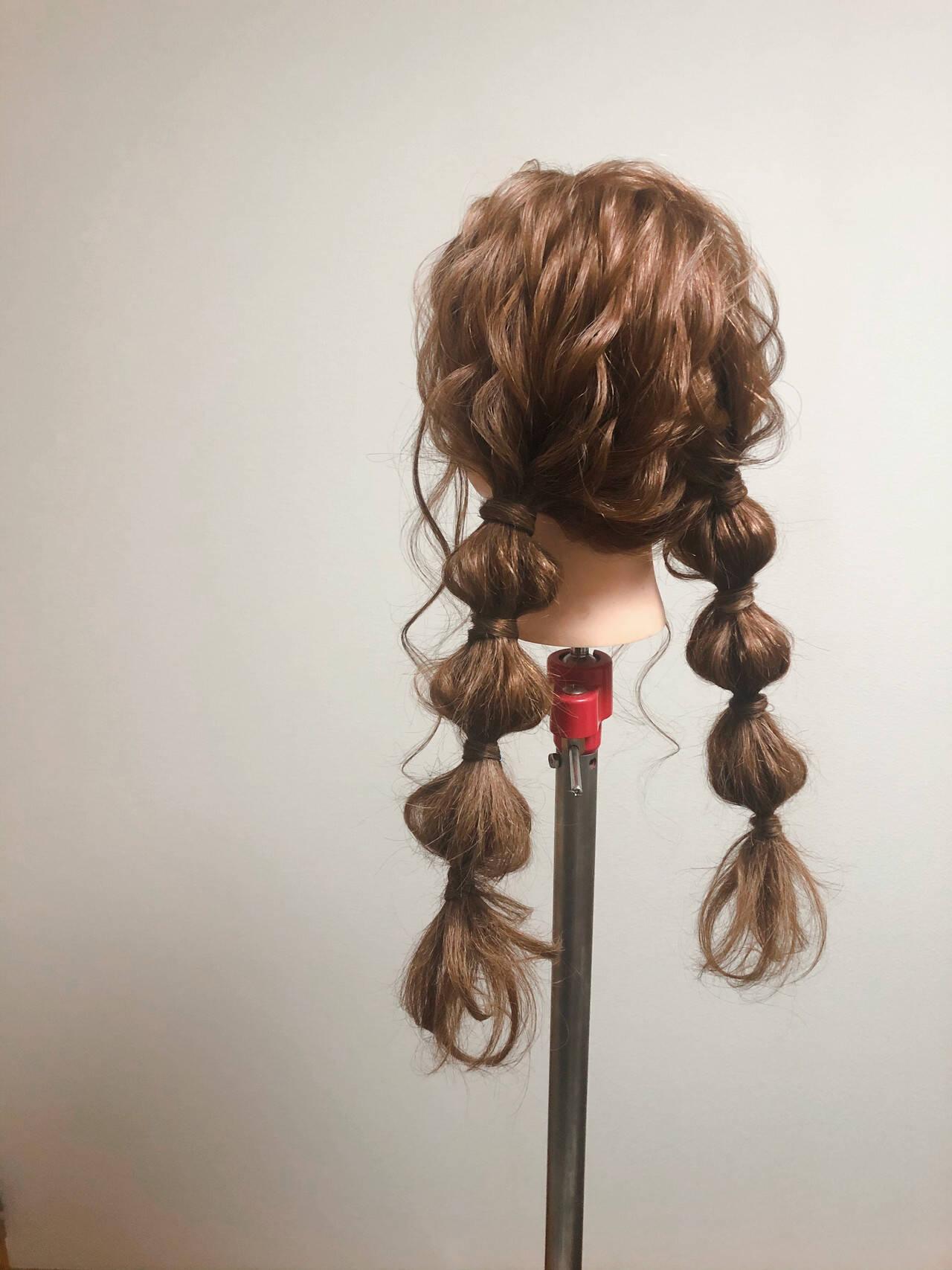 玉ねぎ ロング ヘアセット ツインヘアスタイルや髪型の写真・画像