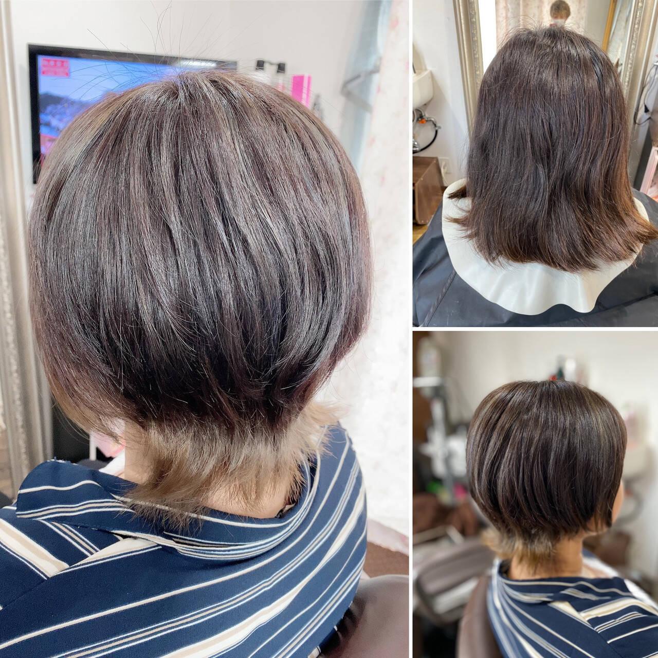 ネオウルフ ベリーショート ショート ショートボブヘアスタイルや髪型の写真・画像