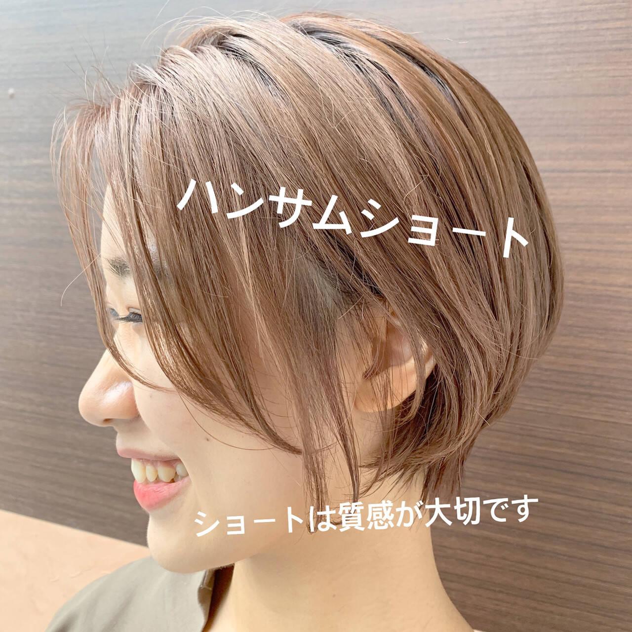 ショート 小顔ショート ショートボブ ショートヘアヘアスタイルや髪型の写真・画像