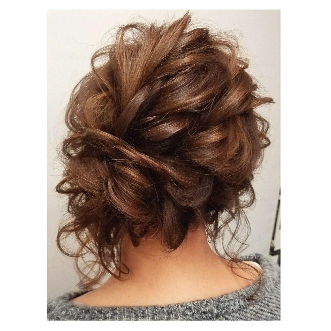 結婚式 ミディアム 成人式 デートヘアスタイルや髪型の写真・画像