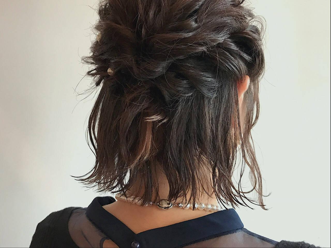 ヘアアレンジ ナチュラル 二次会 結婚式ヘアスタイルや髪型の写真・画像