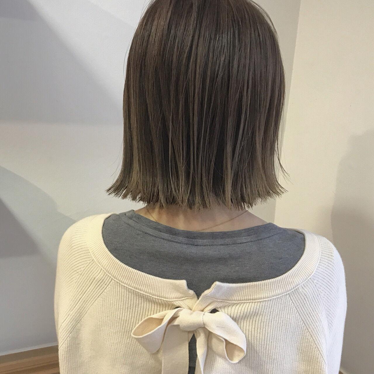 秋 ロブ 透明感 ボブヘアスタイルや髪型の写真・画像