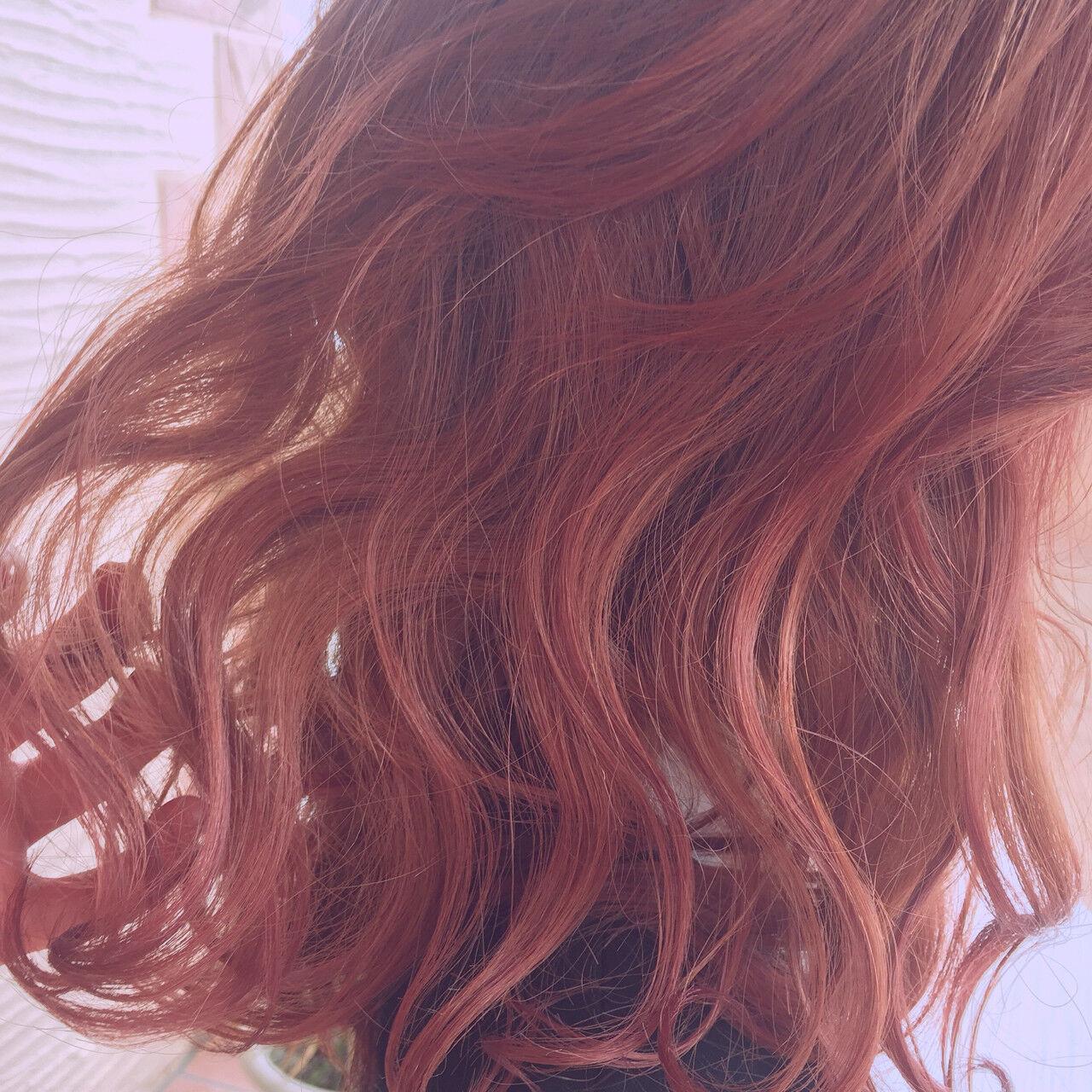 ボブ ピンクアッシュ ガーリー ピンクヘアスタイルや髪型の写真・画像