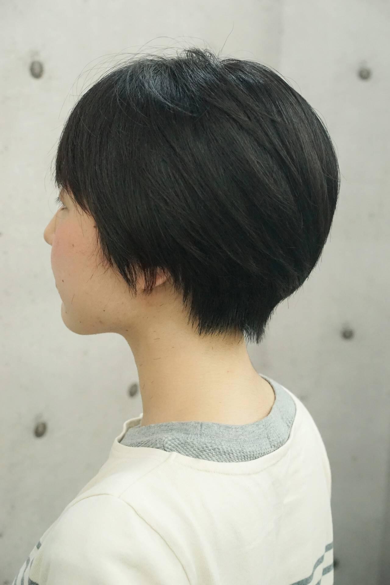 ショートボブ ショート 大人ヘアスタイル かっこいいヘアスタイルや髪型の写真・画像