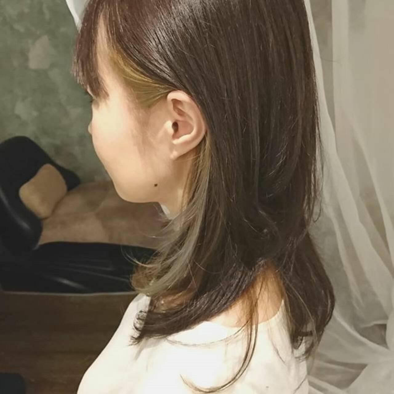 ゆるふわ ミディアム デート オフィスヘアスタイルや髪型の写真・画像