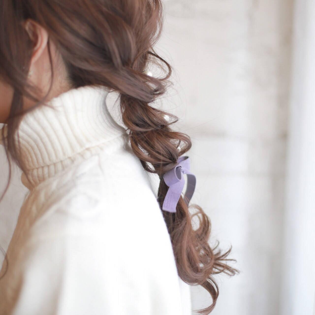 ヘアアレンジ フェミニン 結婚式 ロングヘアスタイルや髪型の写真・画像