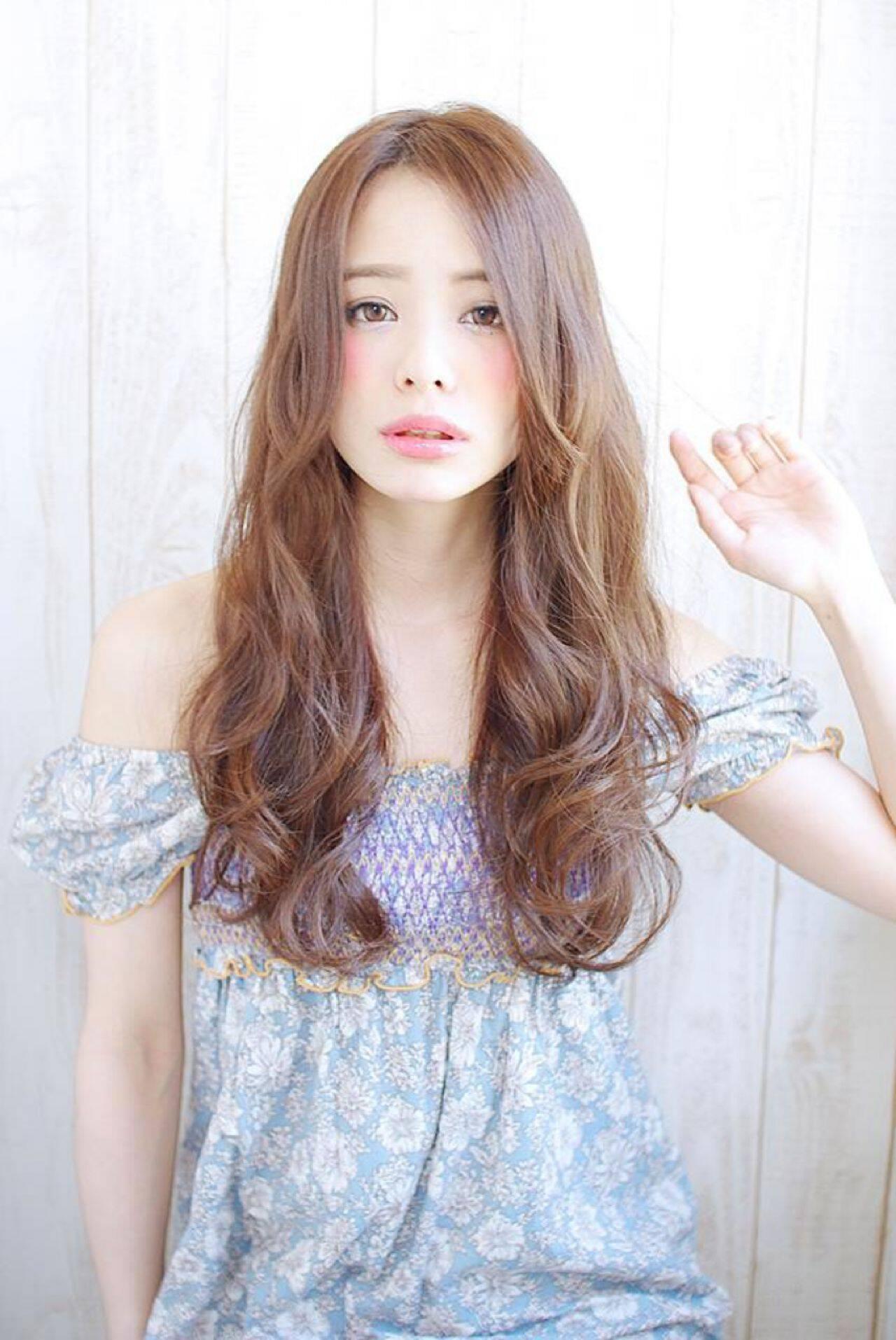 大人かわいい ゆるふわ ロング コンサバヘアスタイルや髪型の写真・画像