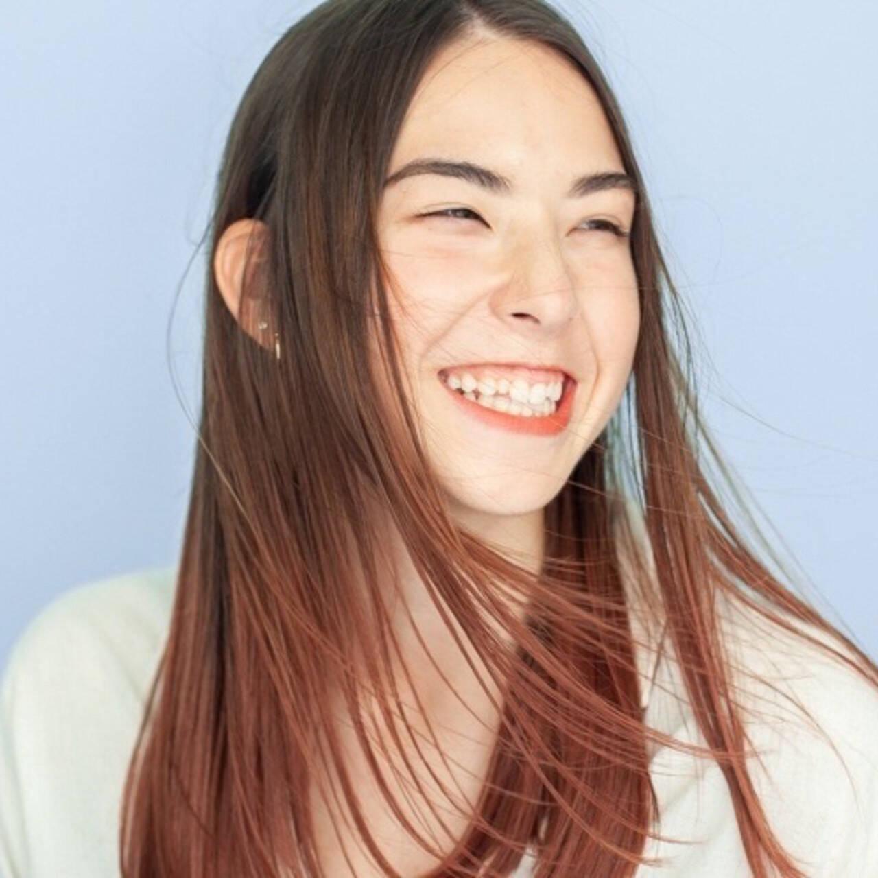ミディアム ハイライト ストリート ブリーチヘアスタイルや髪型の写真・画像