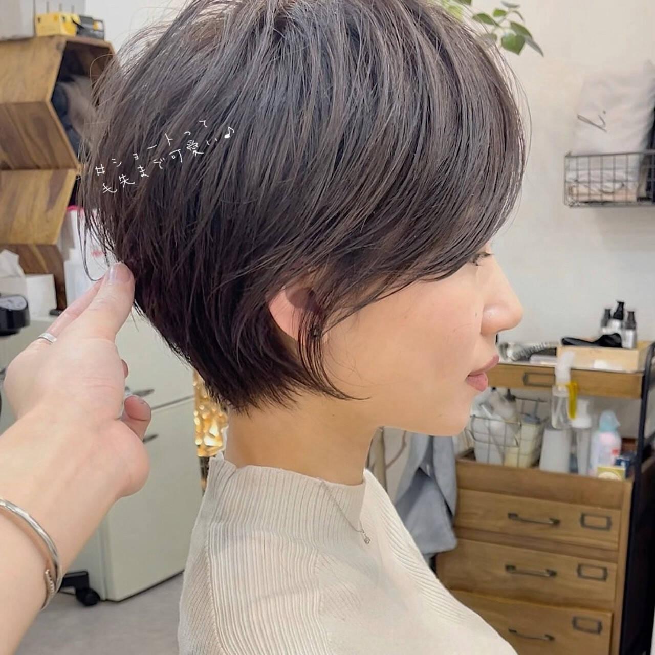 ショートヘア ショートカット ミニボブ ショートヘアスタイルや髪型の写真・画像