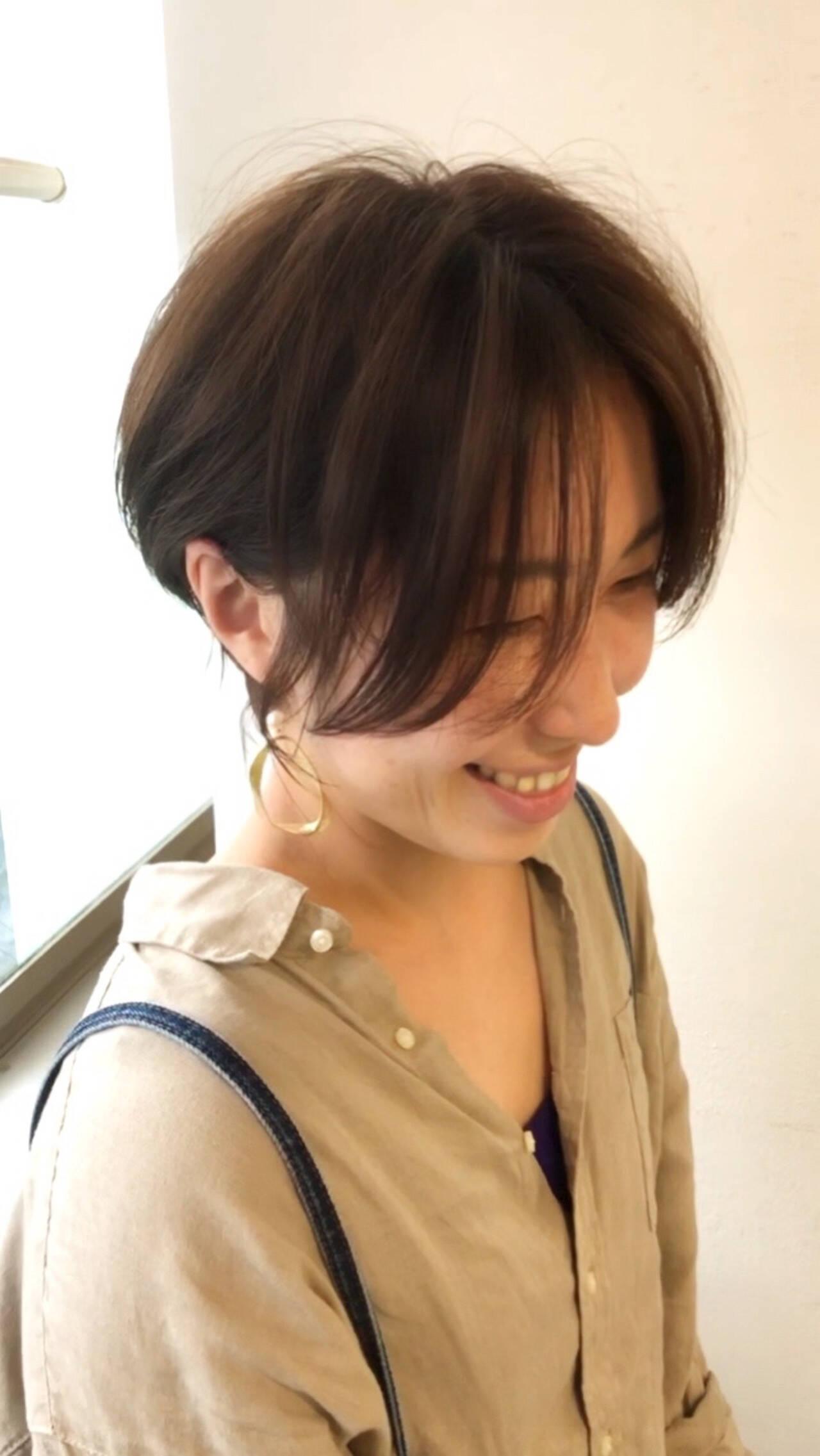 うざバング 大人かわいい ショートヘア ベリーショートヘアスタイルや髪型の写真・画像