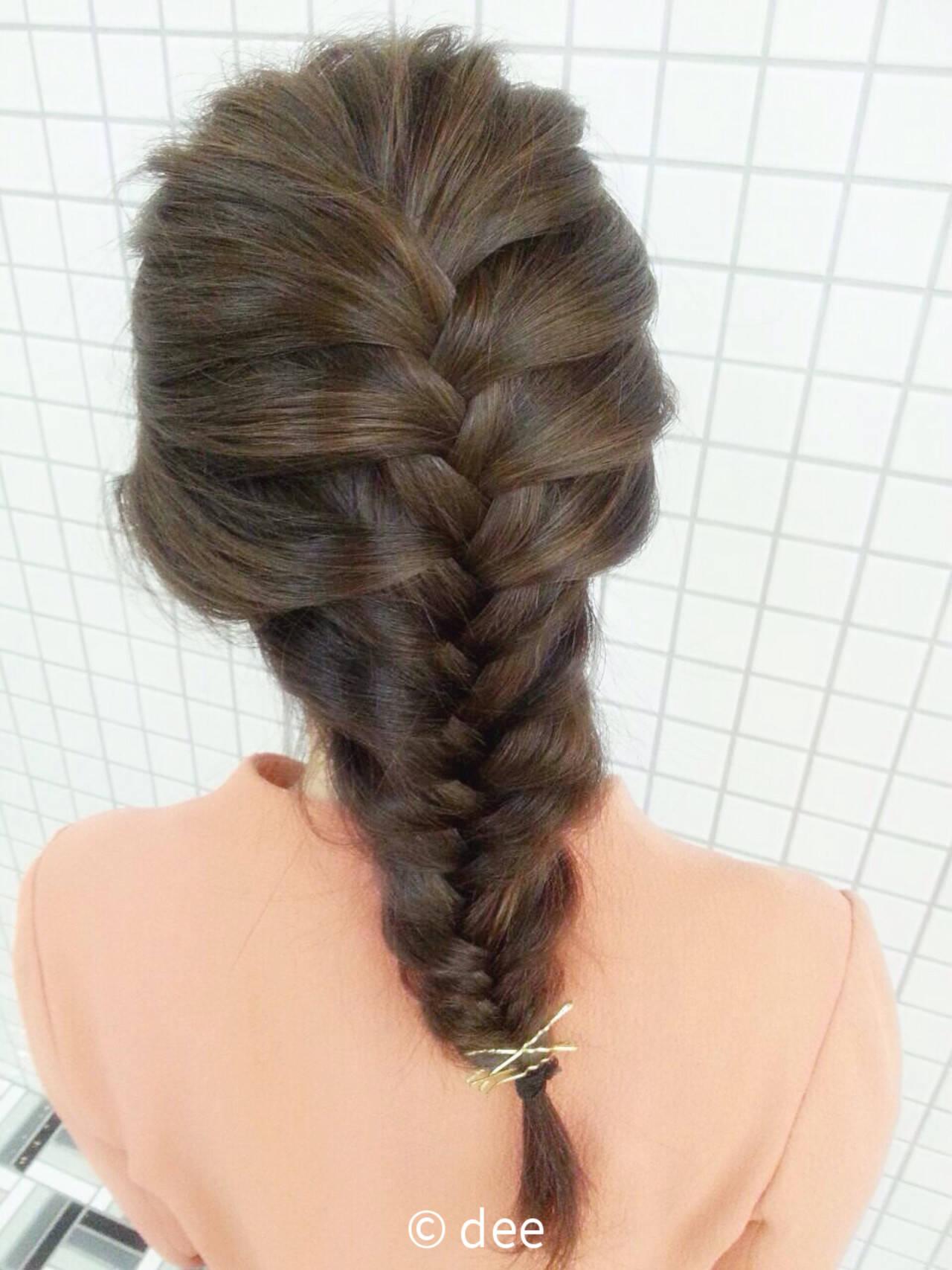 ショート ヘアアレンジ 編み込み 簡単ヘアアレンジヘアスタイルや髪型の写真・画像