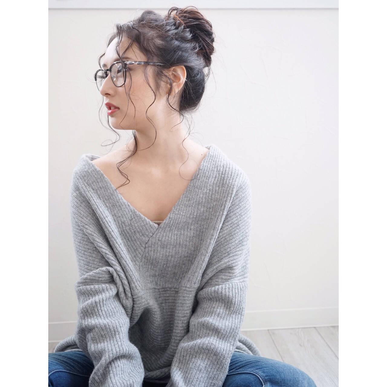 大人女子 ロング 外国人風 簡単ヘアアレンジヘアスタイルや髪型の写真・画像