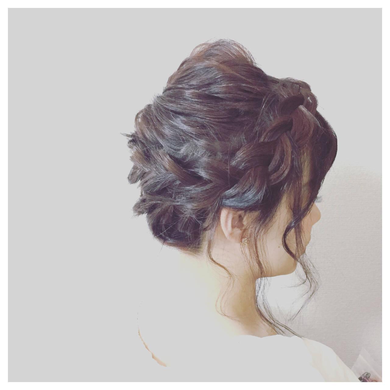夏 結婚式 お祭り フェミニンヘアスタイルや髪型の写真・画像