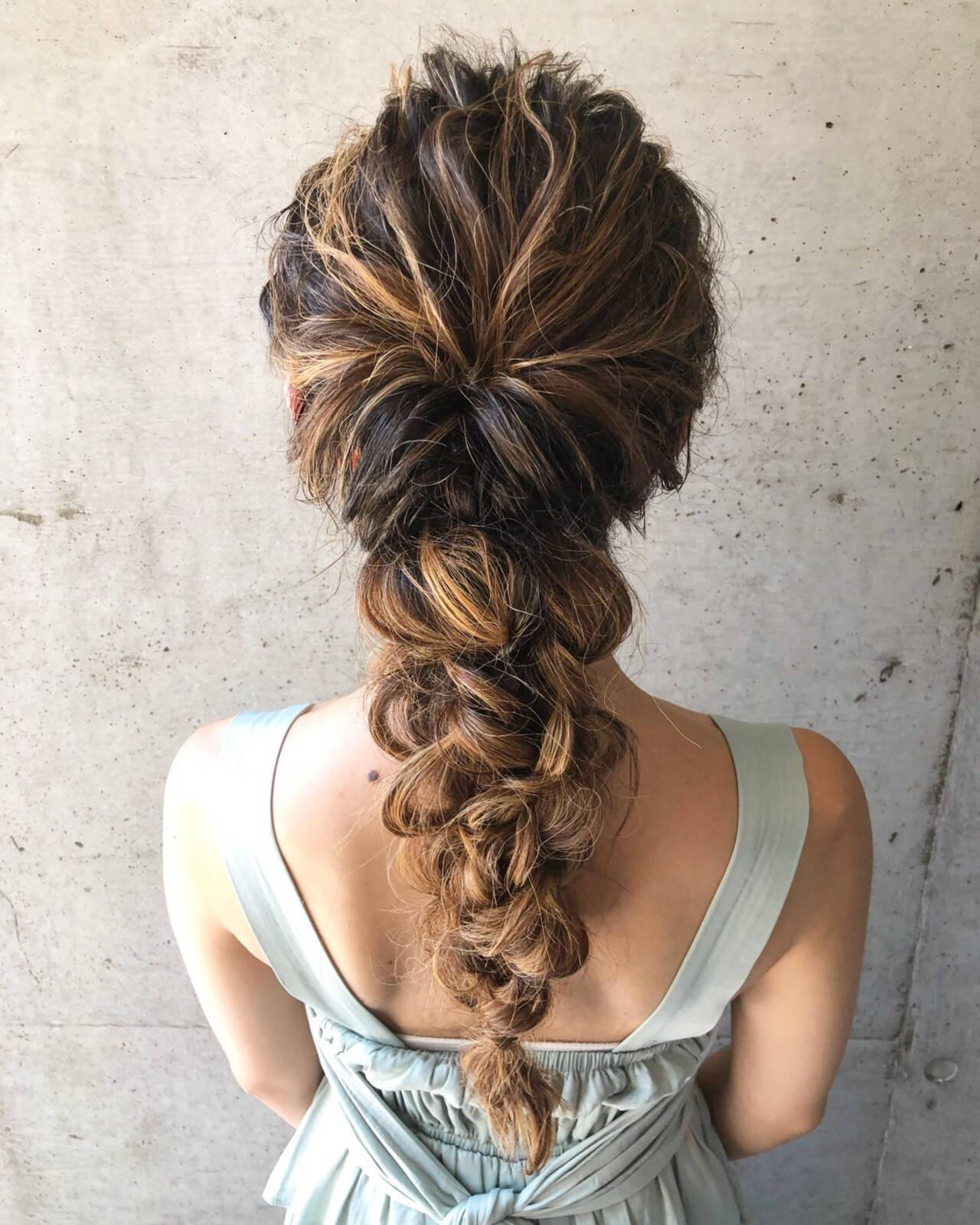 ヘアセット フェミニン ゆるふわセット ロングヘアスタイルや髪型の写真・画像