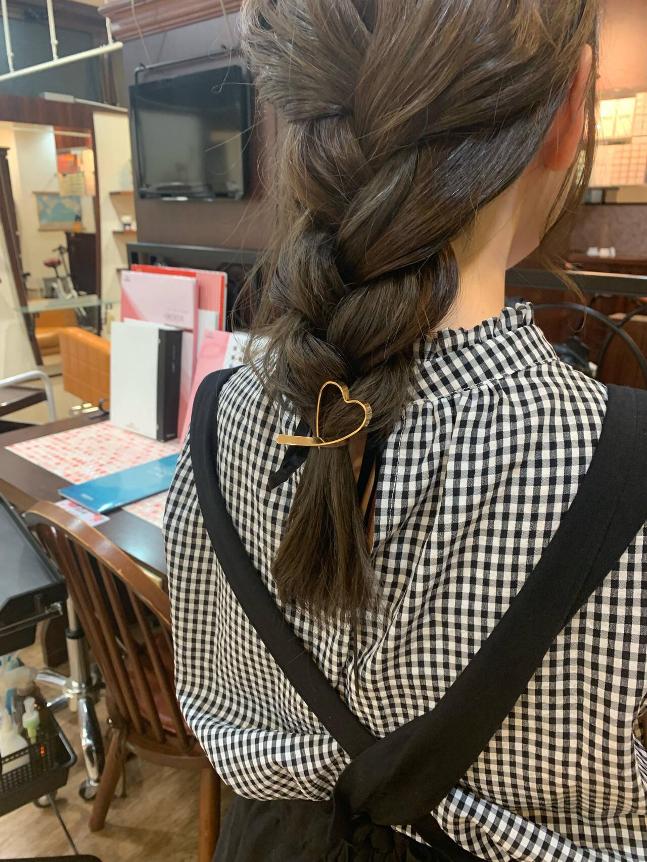 お呼ばれヘア 簡単ヘアアレンジ 編みおろし 編みおろしヘアヘアスタイルや髪型の写真・画像