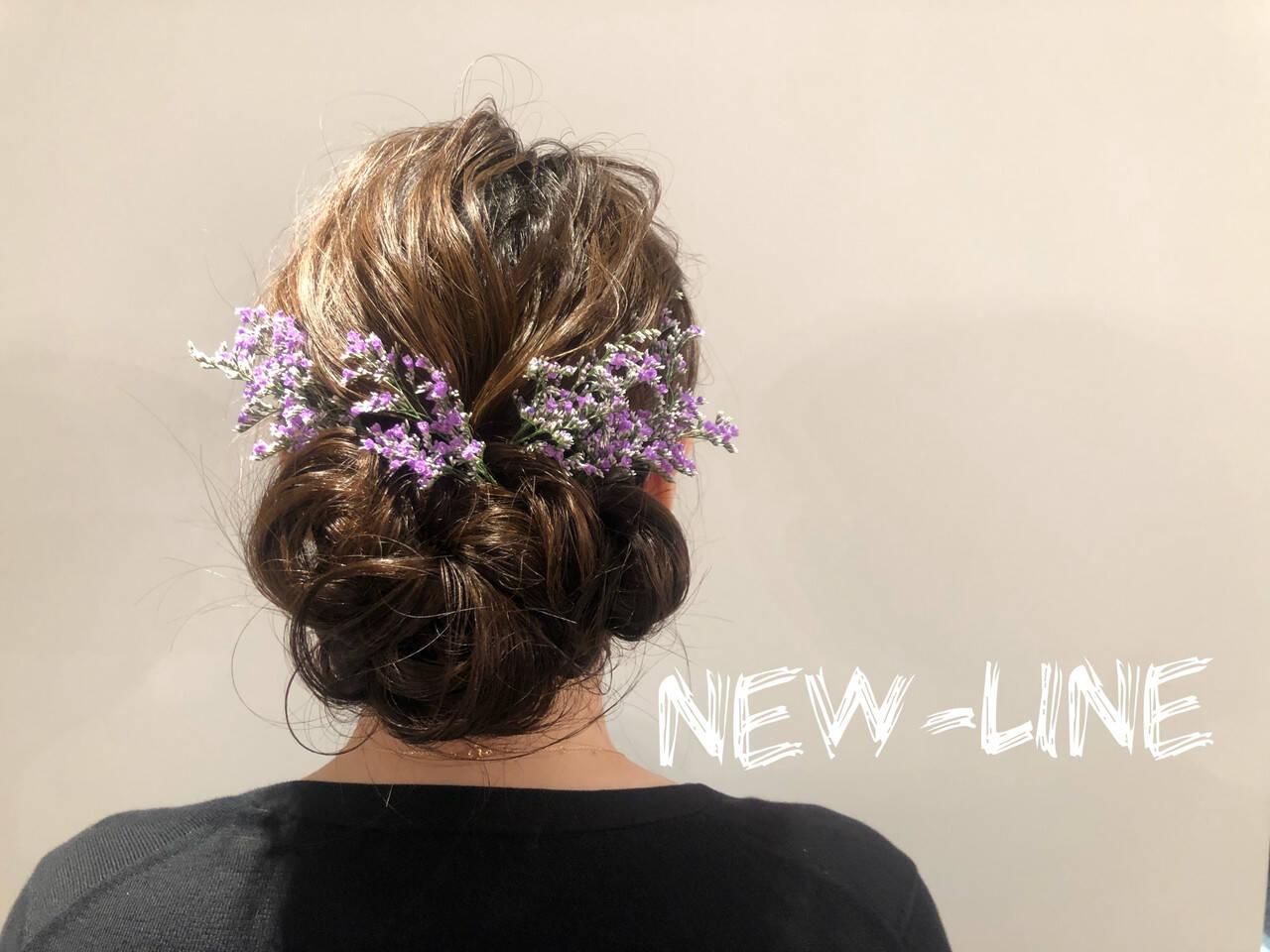 フェミニン ゆるふわセット アンニュイほつれヘア 結婚式ヘアスタイルや髪型の写真・画像