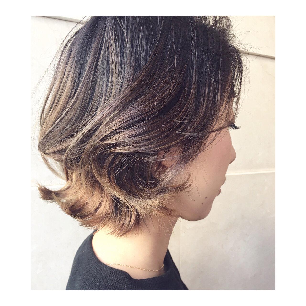 ストリート グラデーションカラー ショート 抜け感ヘアスタイルや髪型の写真・画像