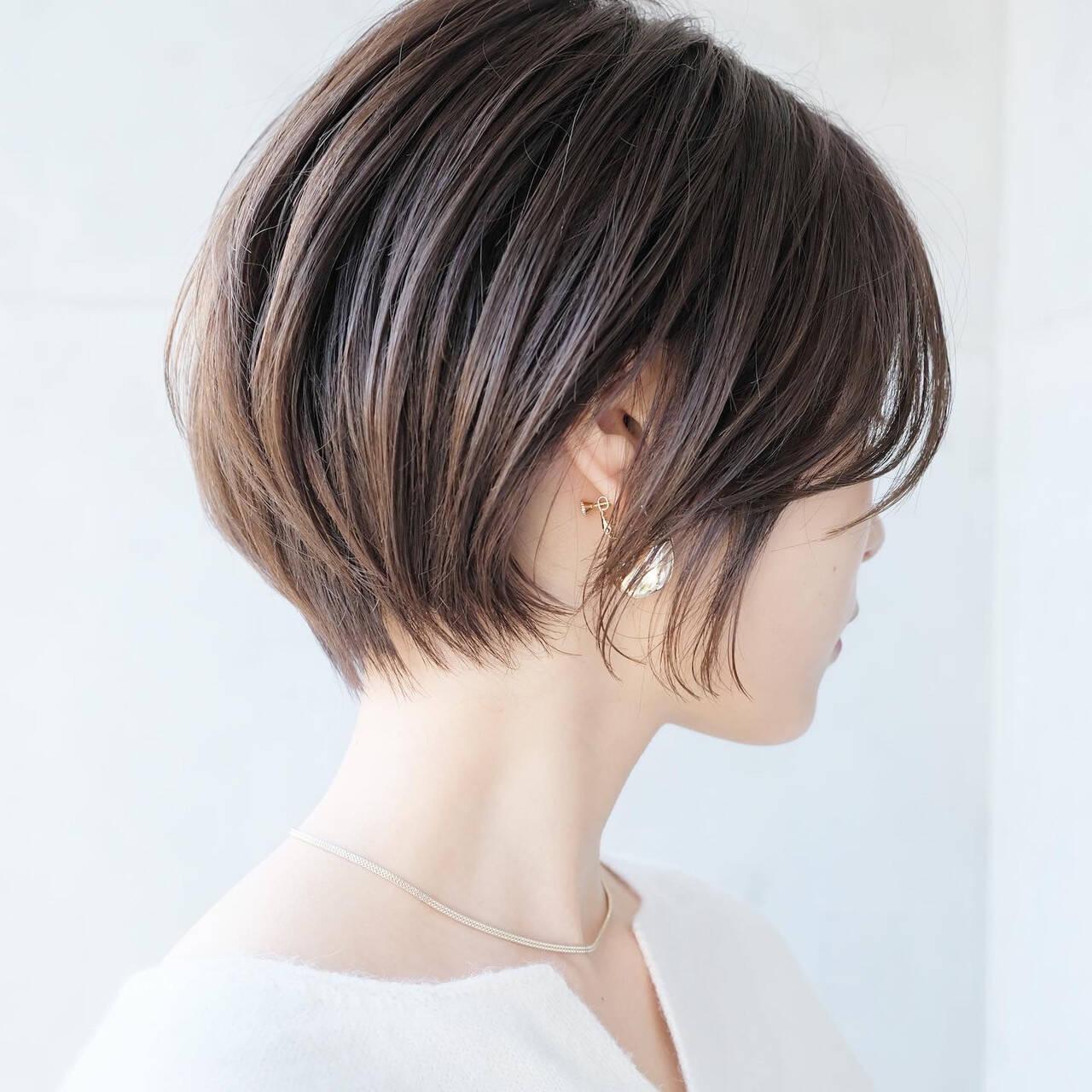 ベリーショート ショート ナチュラル ショートボブヘアスタイルや髪型の写真・画像