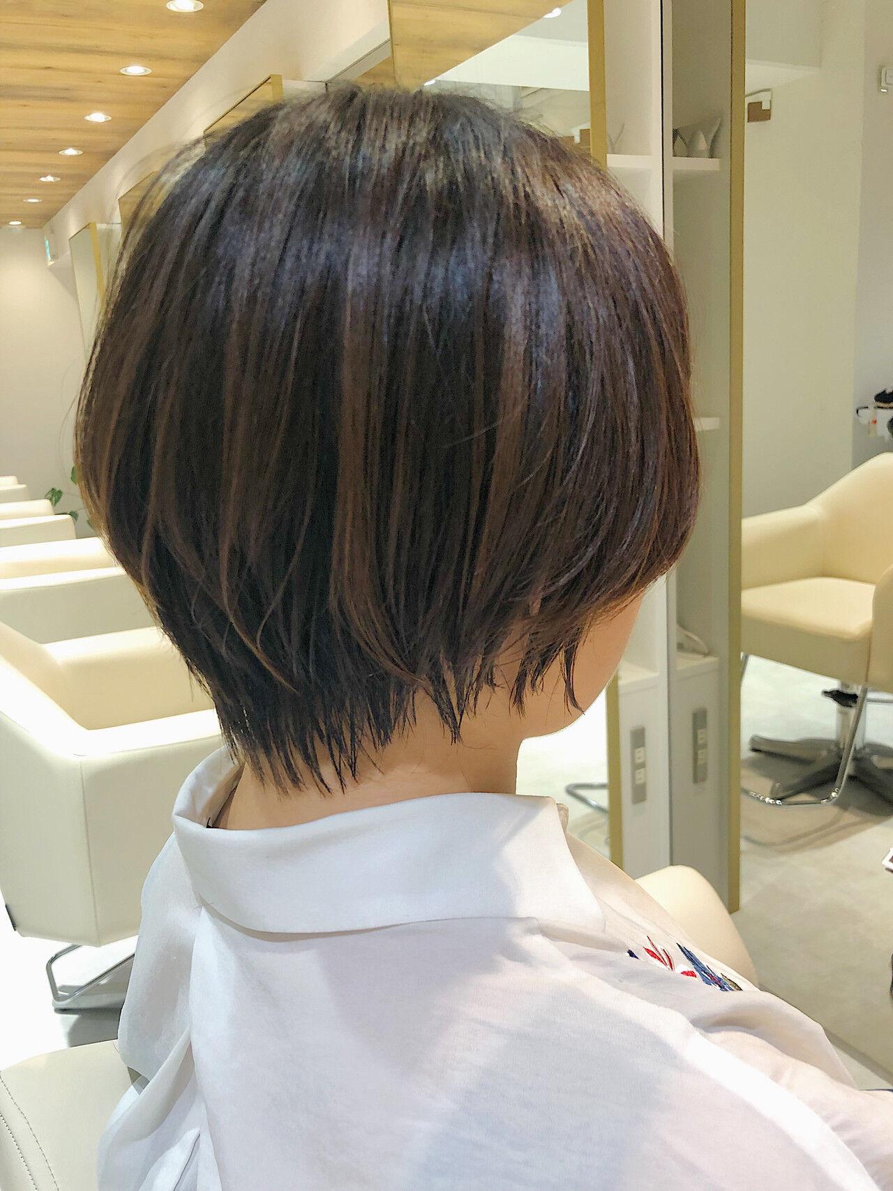 小顔ショート ショートヘア ナチュラル ショートヘアスタイルや髪型の写真・画像