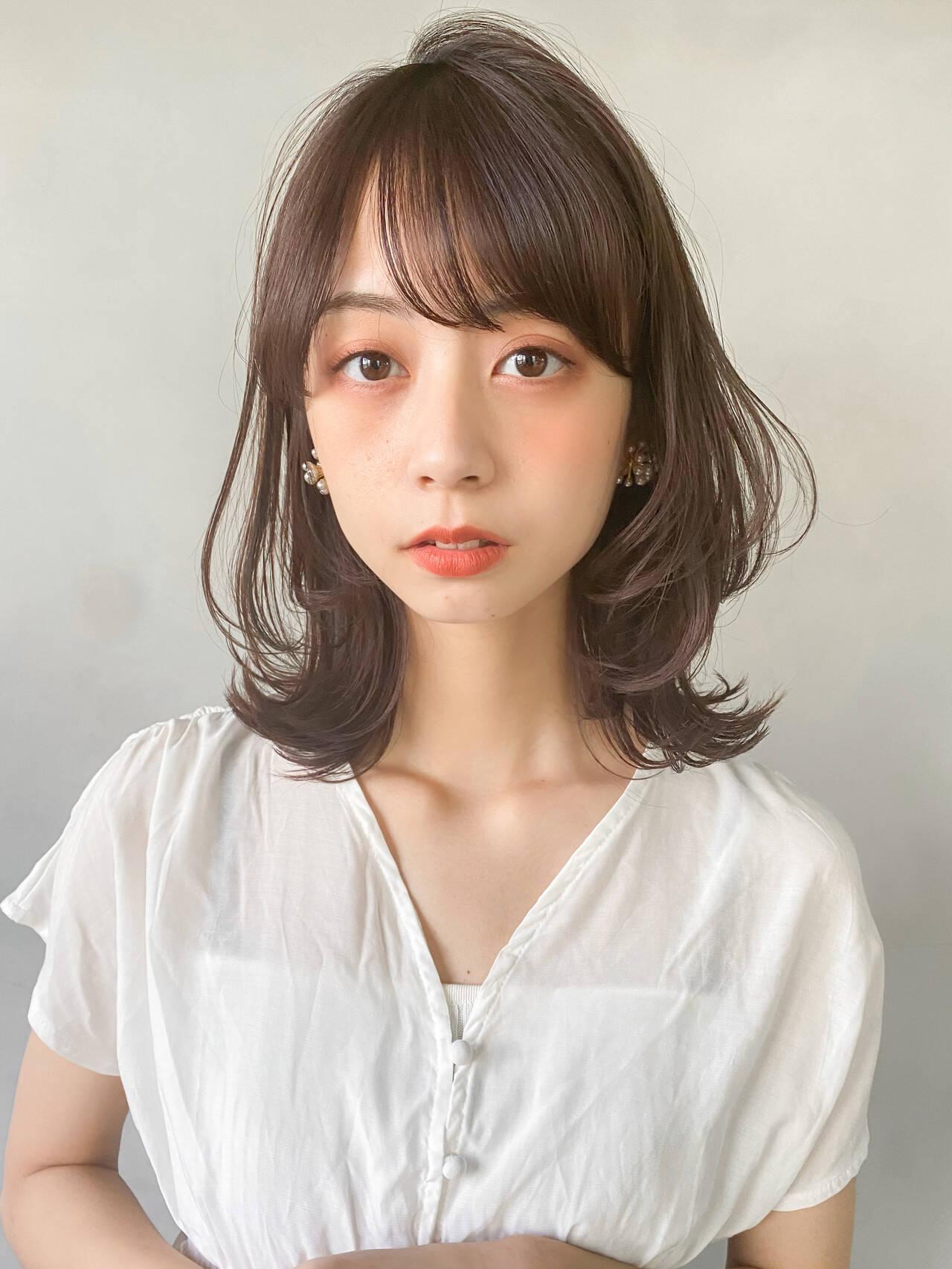 インナーカラー パーティー アンニュイほつれヘア 韓国ヘアヘアスタイルや髪型の写真・画像