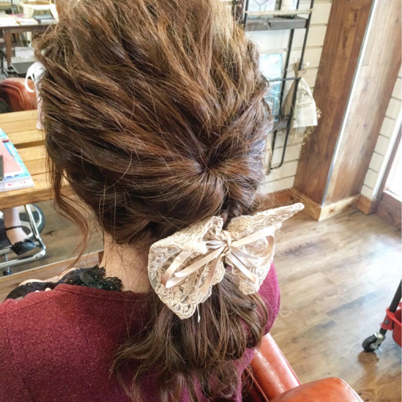 ロング ヘアアレンジ 結婚式 パーティヘアスタイルや髪型の写真・画像
