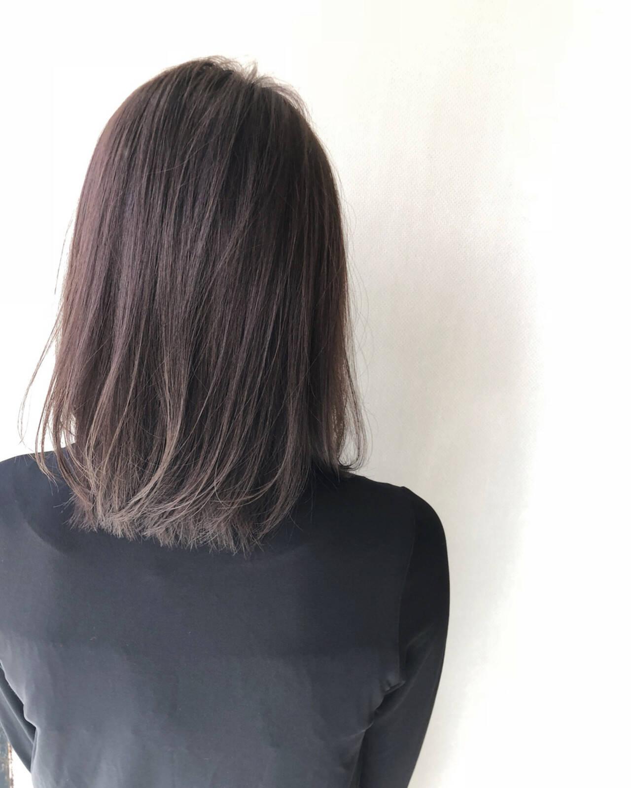 女子力 艶髪 ナチュラル ミディアムヘアスタイルや髪型の写真・画像