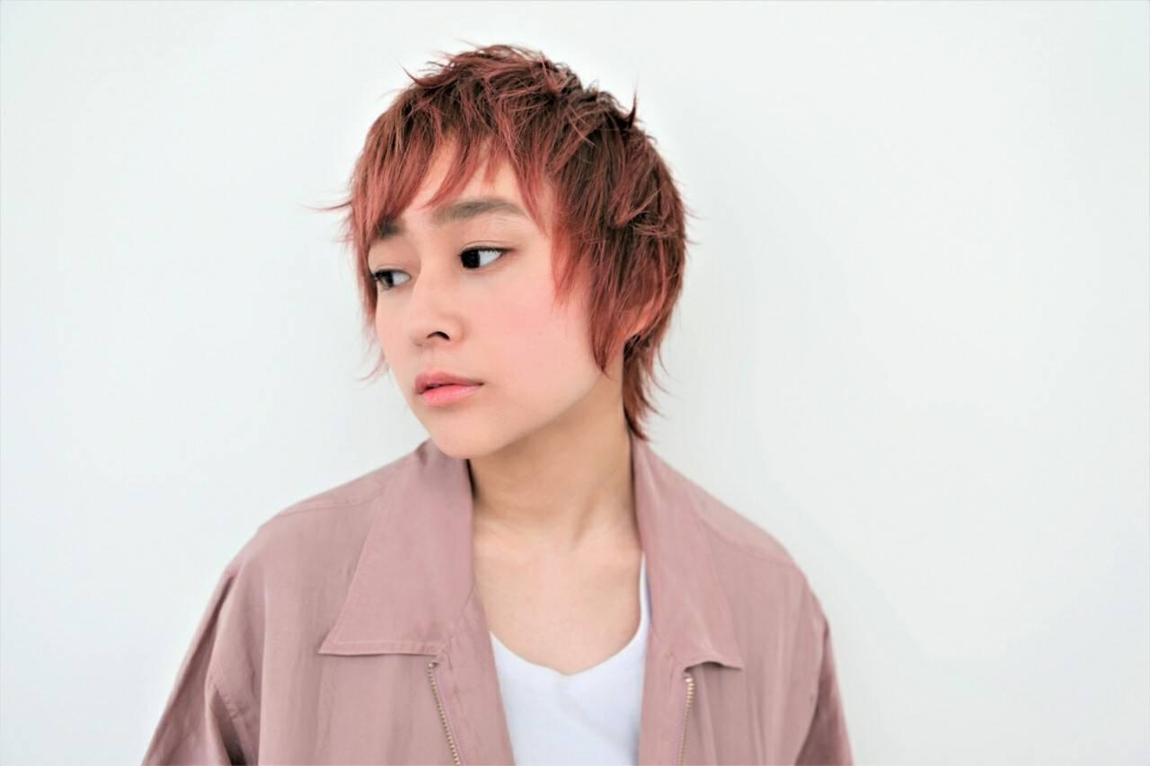 前髪あり リラックス ショート モードヘアスタイルや髪型の写真・画像