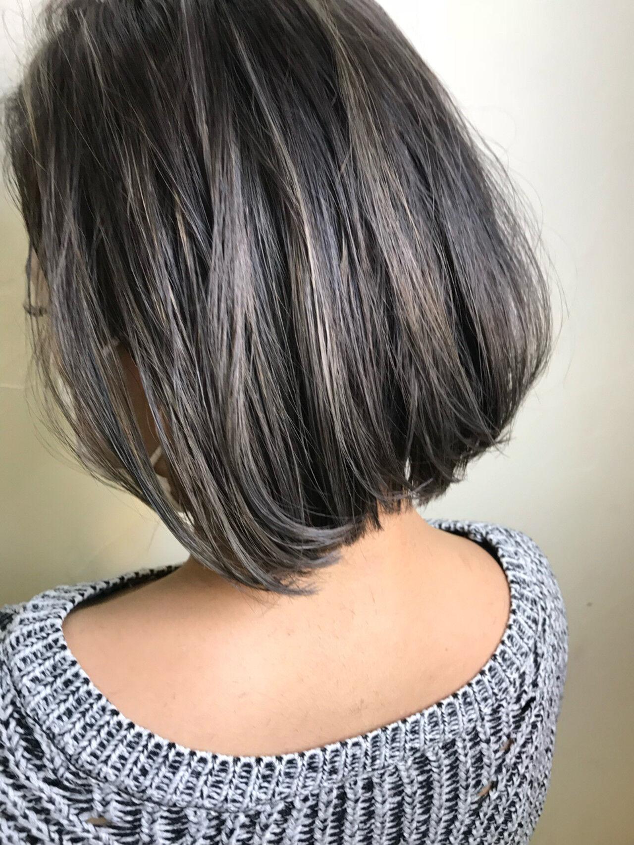 エレガント ウェーブ 上品 ボブヘアスタイルや髪型の写真・画像