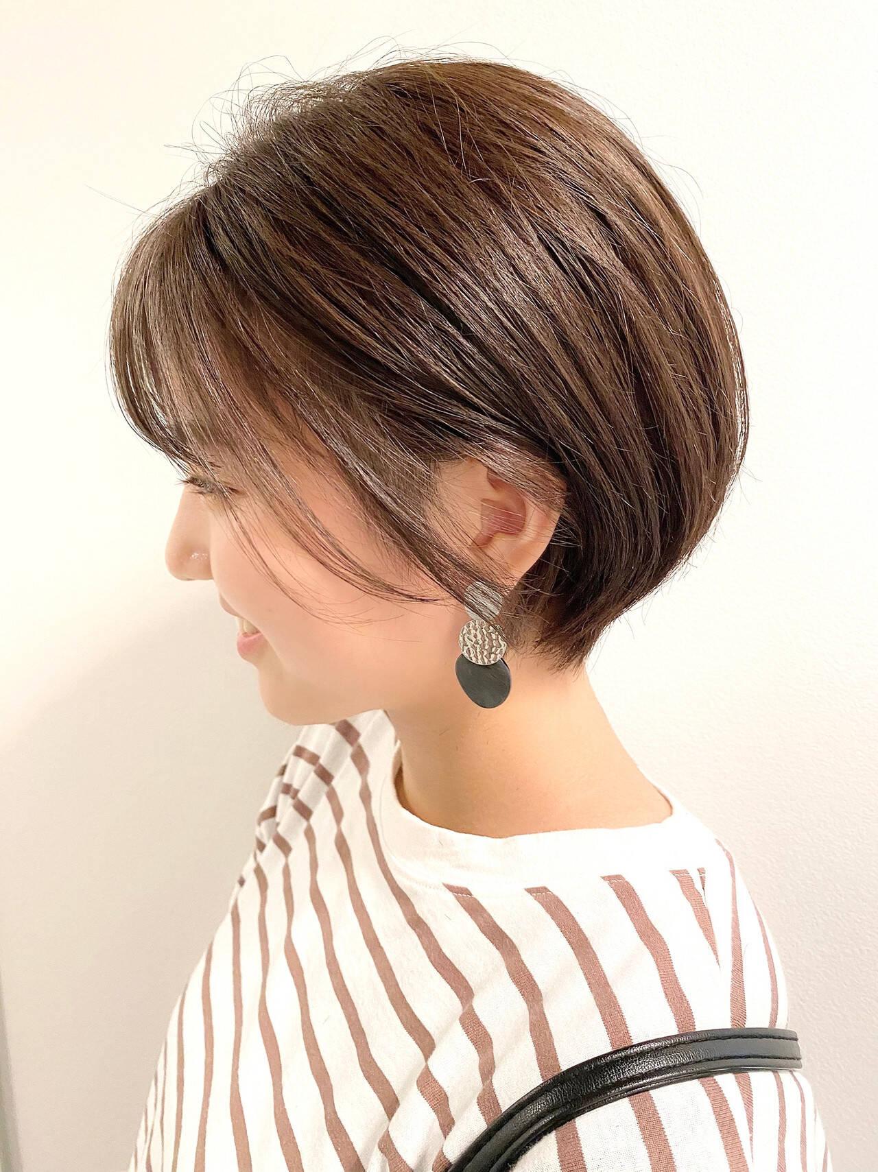 ショートヘア デート ショート 大人かわいいヘアスタイルや髪型の写真・画像