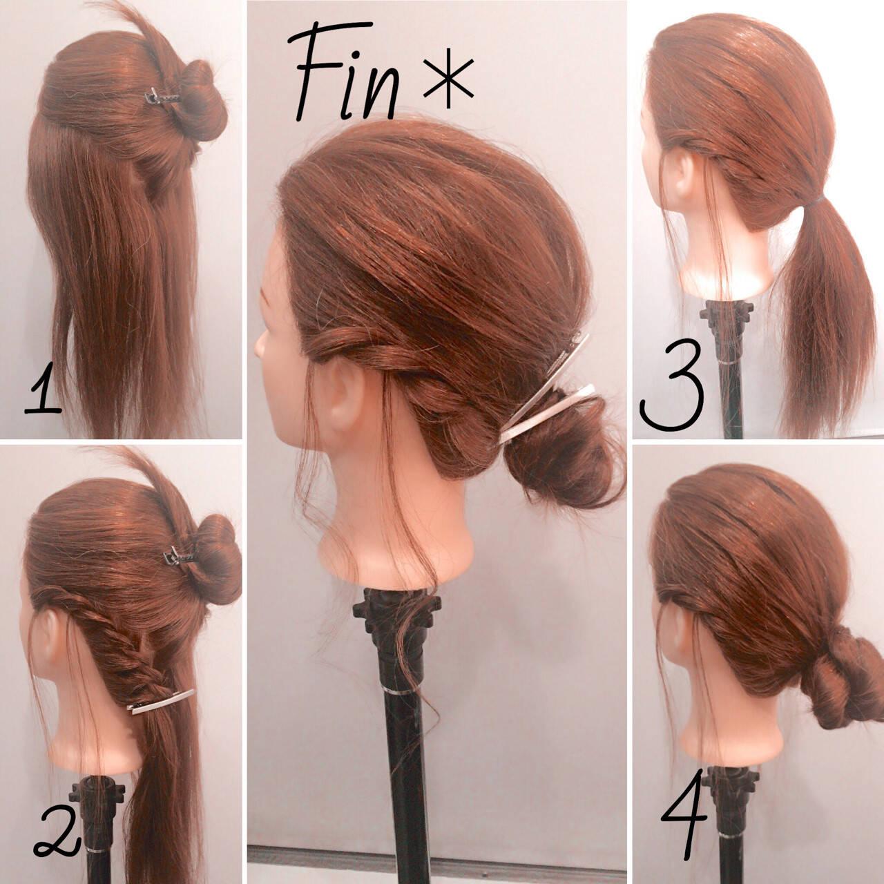 簡単ヘアアレンジ ヘアアレンジ 大人女子 ねじりヘアスタイルや髪型の写真・画像