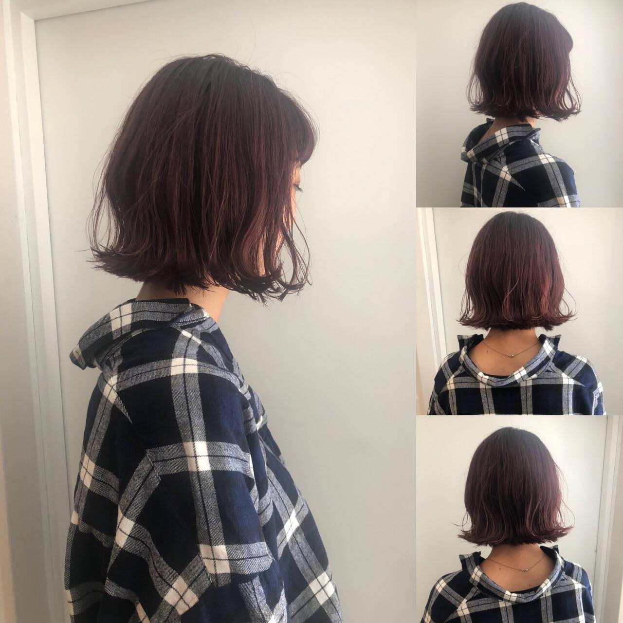 渋谷系 ボブ 大人かわいい ナチュラルヘアスタイルや髪型の写真・画像