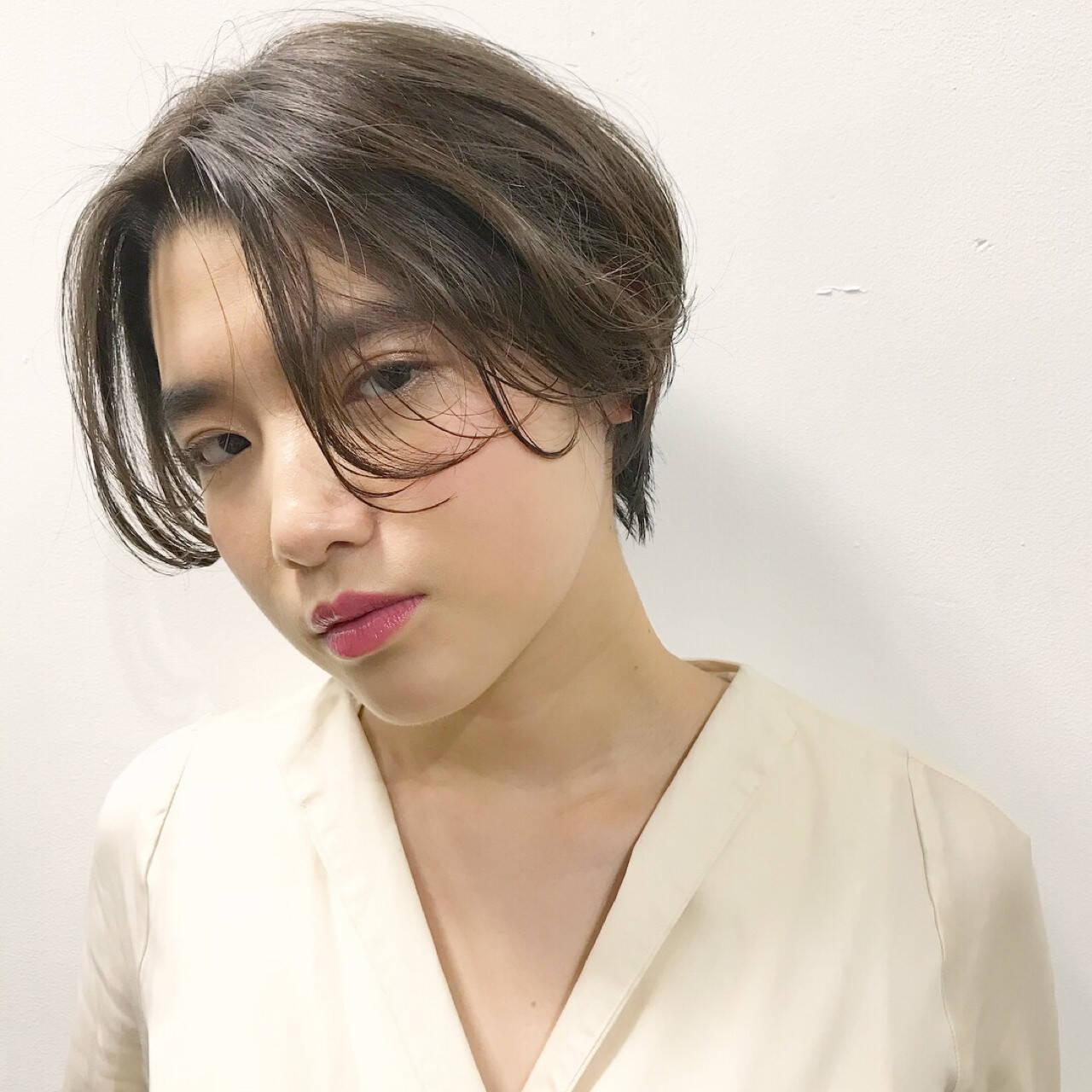 小顔 かっこいい かわいい ナチュラルヘアスタイルや髪型の写真・画像