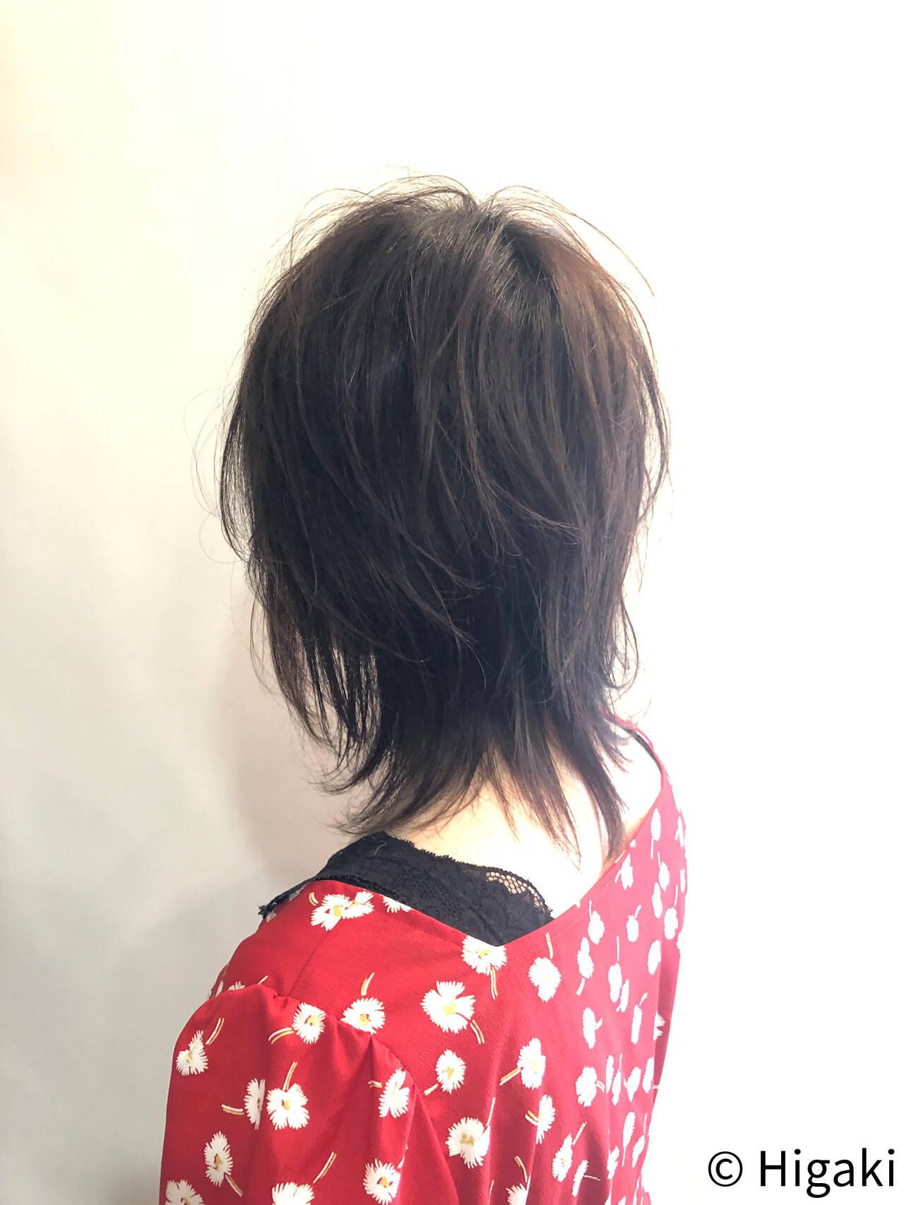 ウルフ女子 ショート ナチュラルウルフ かっこいいヘアスタイルや髪型の写真・画像