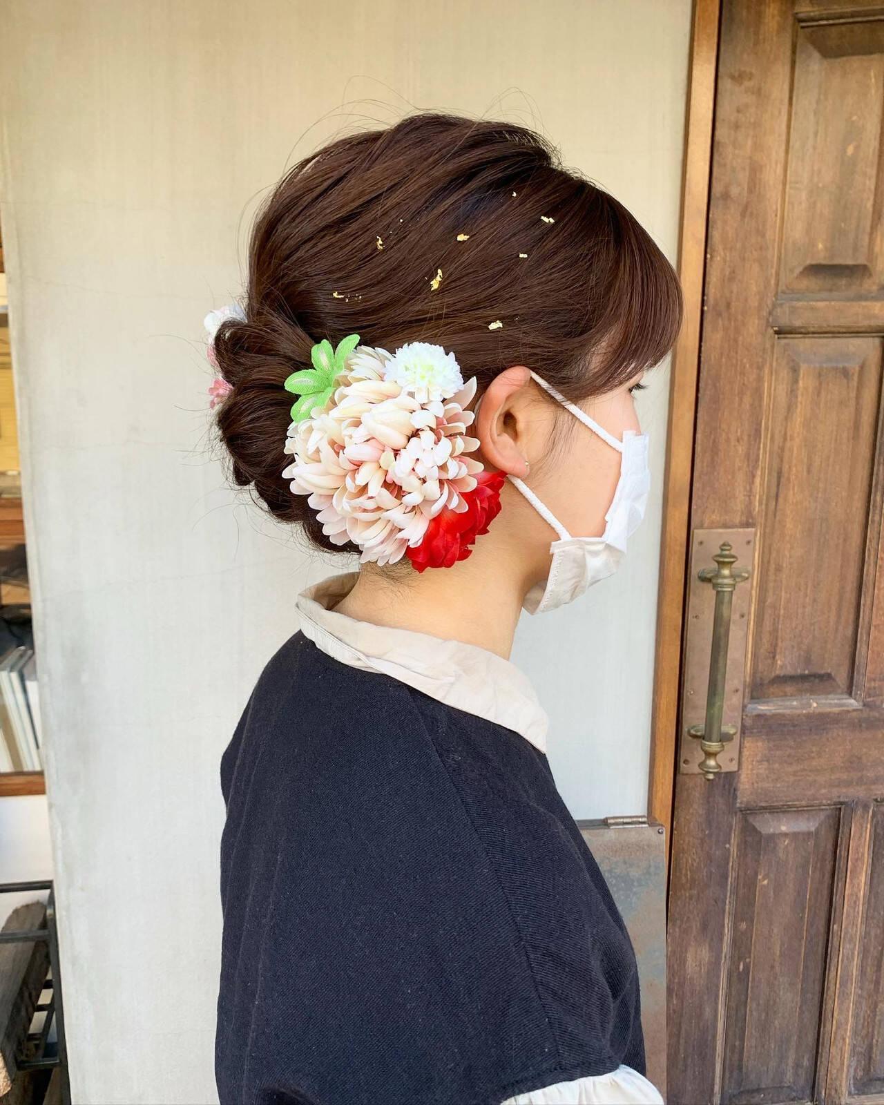ロング 結婚式ヘアアレンジ 成人式ヘアメイク着付け 成人式ヘアヘアスタイルや髪型の写真・画像