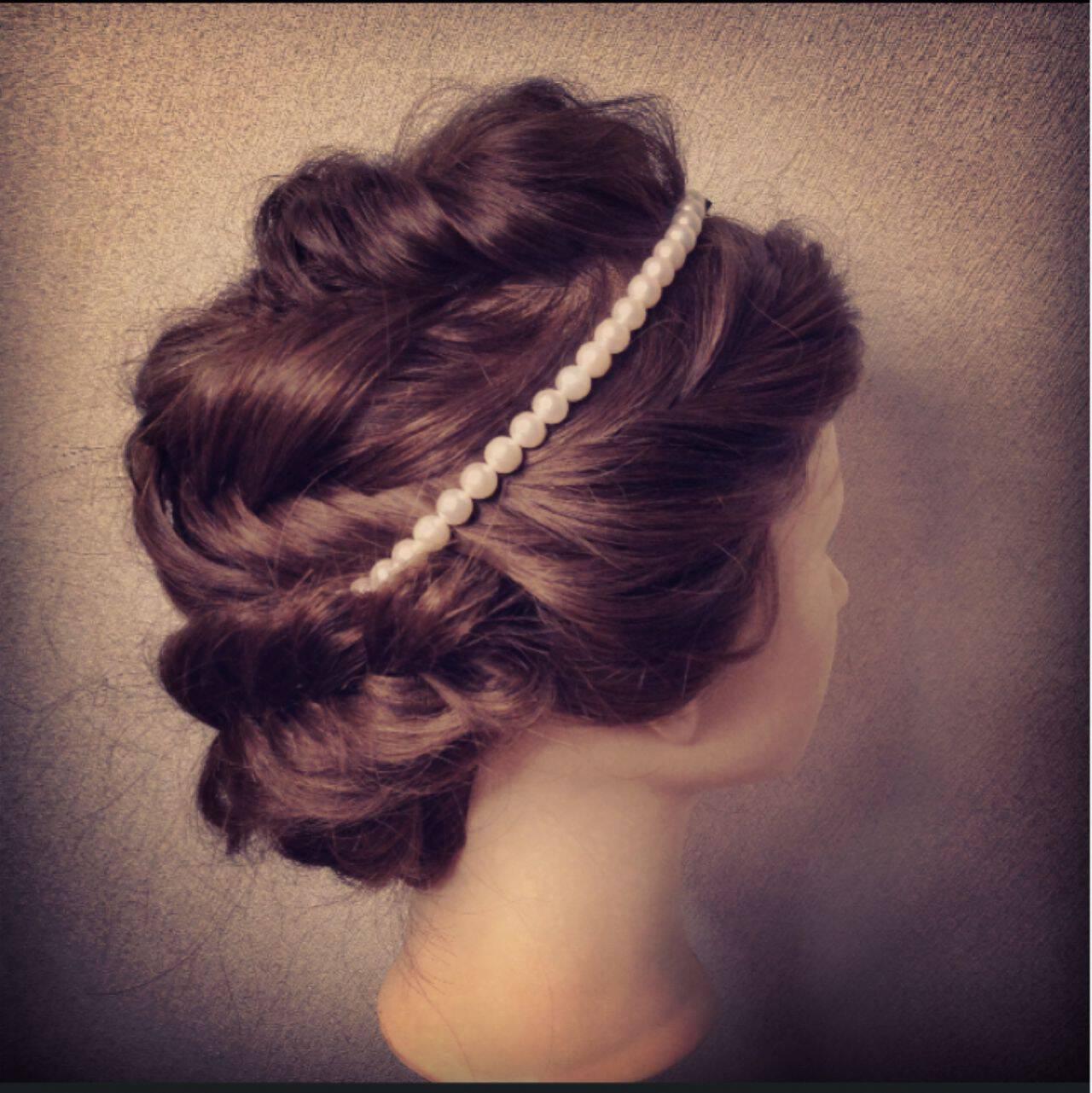 ヘアアレンジ ショート 簡単ヘアアレンジ 結婚式ヘアスタイルや髪型の写真・画像